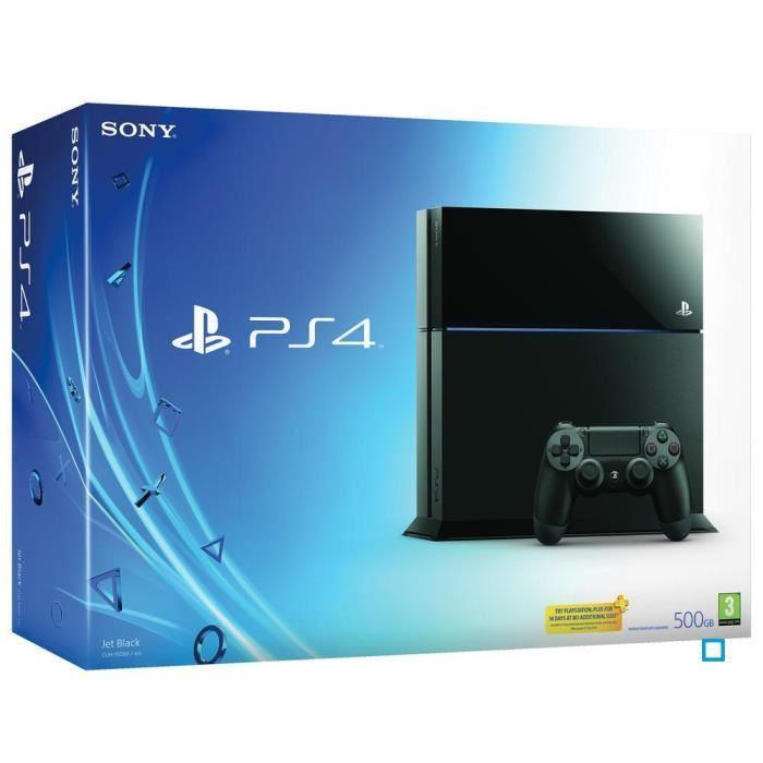 Console Sony PS4 500 Go - Noire ou Blanche