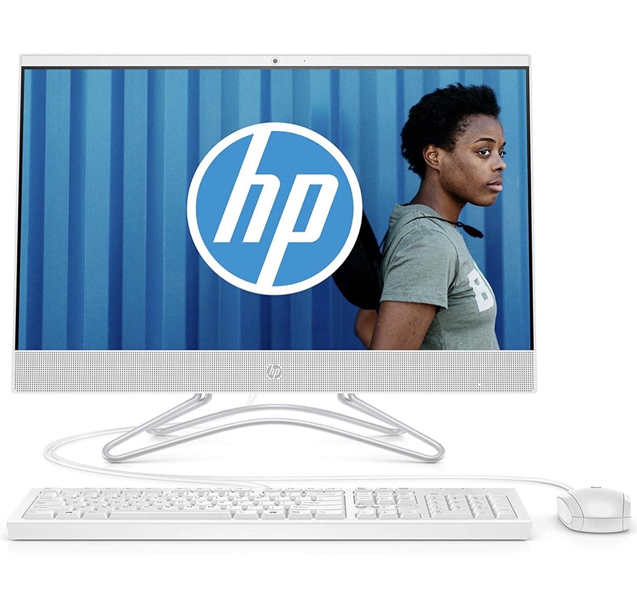"Ordinateur Tout-en-un 24"" HP 24-f0079nf - FHD IPS Blanc, Intel Core i3, 4 Go de RAM, 2 To de Stockage, Windows 10"