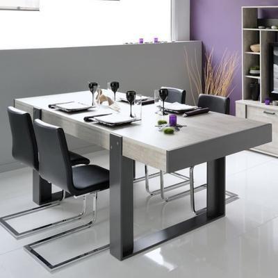 Table à manger Loft - 8 à 10 personnes, 224x90cm