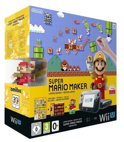 Console Nintendo Wii U 32 Go noire + Super Mario Maker+ Amiibo
