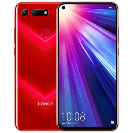 "Smartphone 6.4"" Huawei Honor View 20 Rouge - 256Go, RAM 8Go, Full HD+, Kirin 980, batterie 4000mAh, Android 9.0"