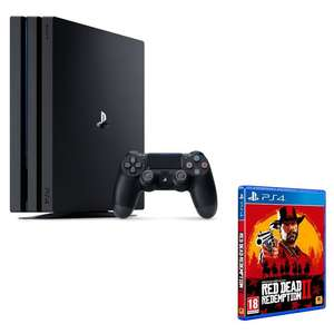 Console Sony PS4 Pro 1 To Noire + Red Dead Redemption 2