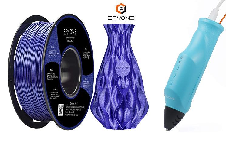 Filament PLA Evyone - 1.75 mm, 1 kg, Coloris au Choix + Stylo 3D (Via Coupon - Vendeur Tiers)