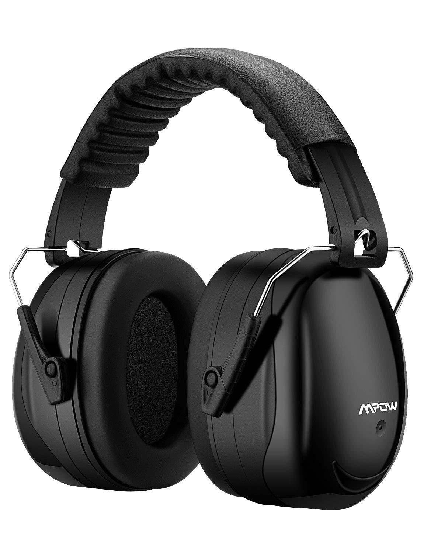 Casque anti-bruit Mpow - Pliable, Noir, Certifié ANSI S3.19, NRR 28dB/SNR 34dB (Vendeur tiers)