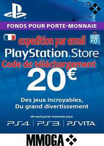 Fonds pour porte monnaie Playstation Network 20€ (Dématérialisé)