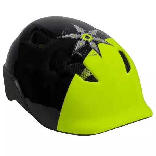 Casque Vélo B'Twin Heroboy 520 pour Enfants - Noir / Vert, Taille au Choix