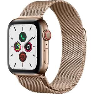 Apple Watch Series 5 - 40mm - GPS + Cellular, Or, Bracelet Milanais Or (712,80€ avec le code BF12100)