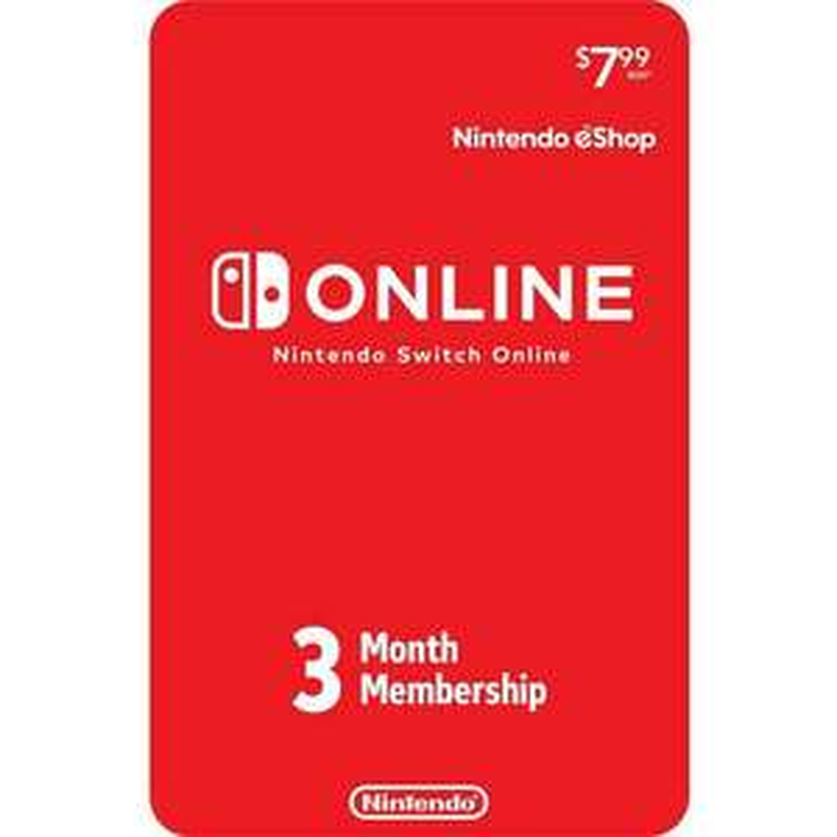 Abonnement de 3 mois au Nintendo Switch Online (Dématérialisé)