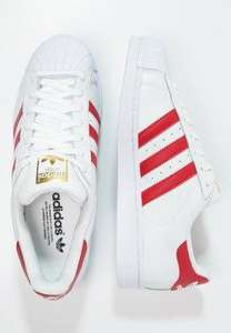 Sélection de chaussures Adidas Originals en promotion - Ex : Superstar Foundation Blanc/Rouge
