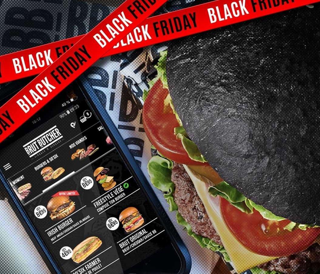 1 Menu acheté = 1 Menu offert - Brut Butcher (via l'application mobile)