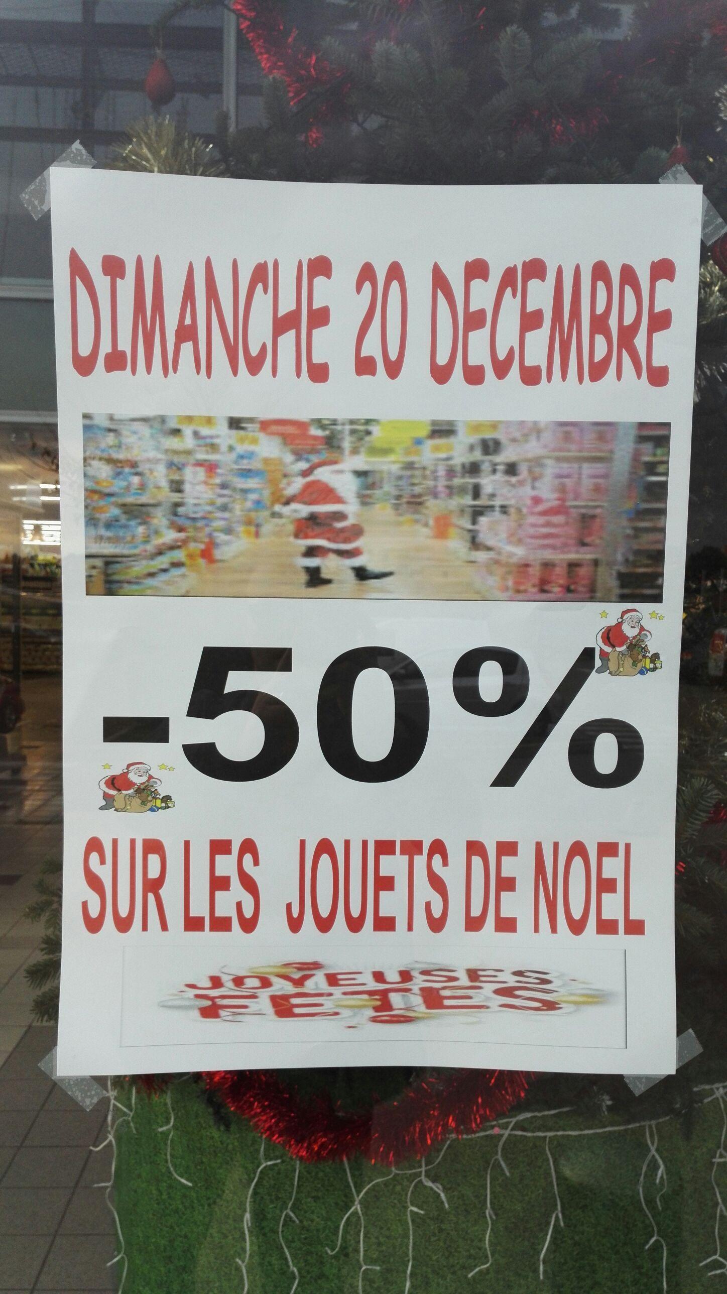 50% de réduction sur les jouets de Noël