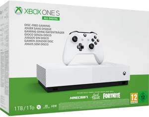 Xbox One S 1To All-Digital + Minecraft + Sea of Thieves + Fortnite Battle Royale ou Forza Horizon 3