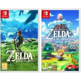 Pack The Legend of Zelda : Breath of The Wild + Link's Awakening sur Nintendo Switch (84€ avec BF19 + 14.85€ en SuperPoints)