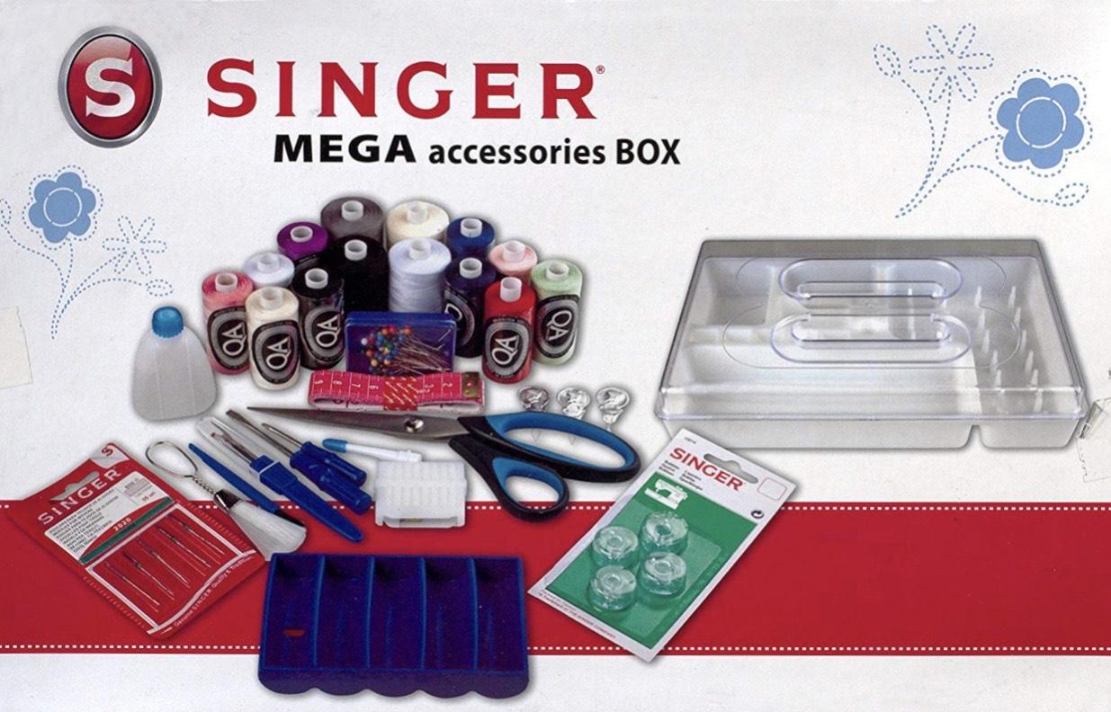 Kit d'Accessoires Complet Singer Megabox pour Couture