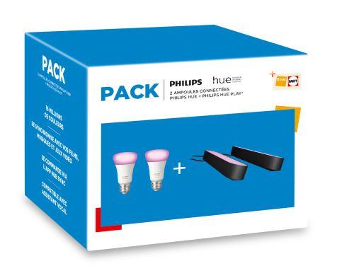 Pack 2 ampoules et 2 lampes connectées Philips Hue+ Pont de connexion