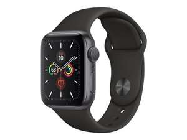 Montre connectée Apple Watch Series 5 (GPS) 40 mm - Boitier en Aluminium Gris Sidéral avec Bracelet Sport Noir