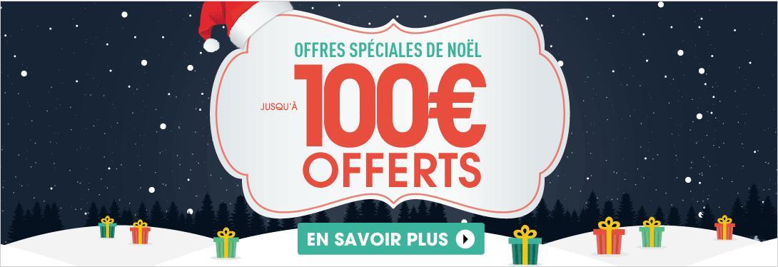 30€ de réduction dès 300€ d'achat, 60€ dès 500€ et 100€ dès 750€ (sauf exceptions)