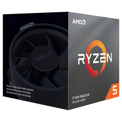 Processeur AMD Ryzen 5 3600X Wraith Spire (3.8/4.4 Ghz) (220,75€ avec BLACKMOUTH)