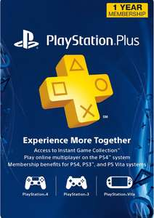 Abonnement au Playstation Plus - 12 Mois (Dématérialisé, Compte US)