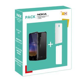 Smartphone Nokia 2.2 Dual SIM 16 Go + Verre trempé+ Coque protectrice (Via ODR de 20€)