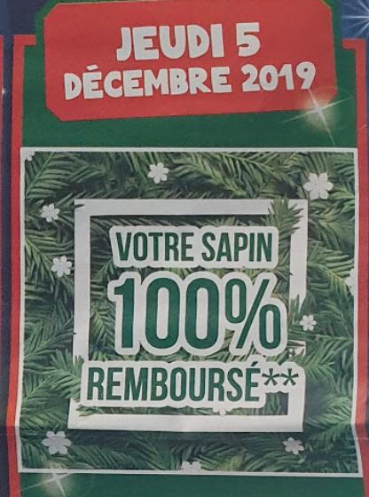 Sapin de Noël 100% Remboursé en bon d'achat - E.Leclerc Montévrain Clos du Chêne (77)