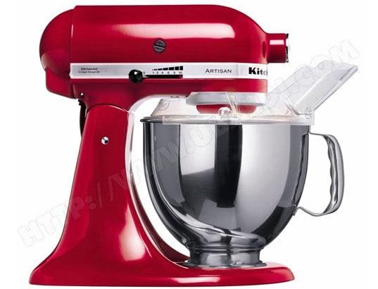 Robot patissier Kitchenaid Artisan 5KSM150PSEER - Rouge ou Noir