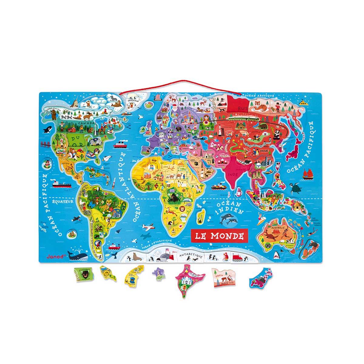 Carte monde magnétique Janod