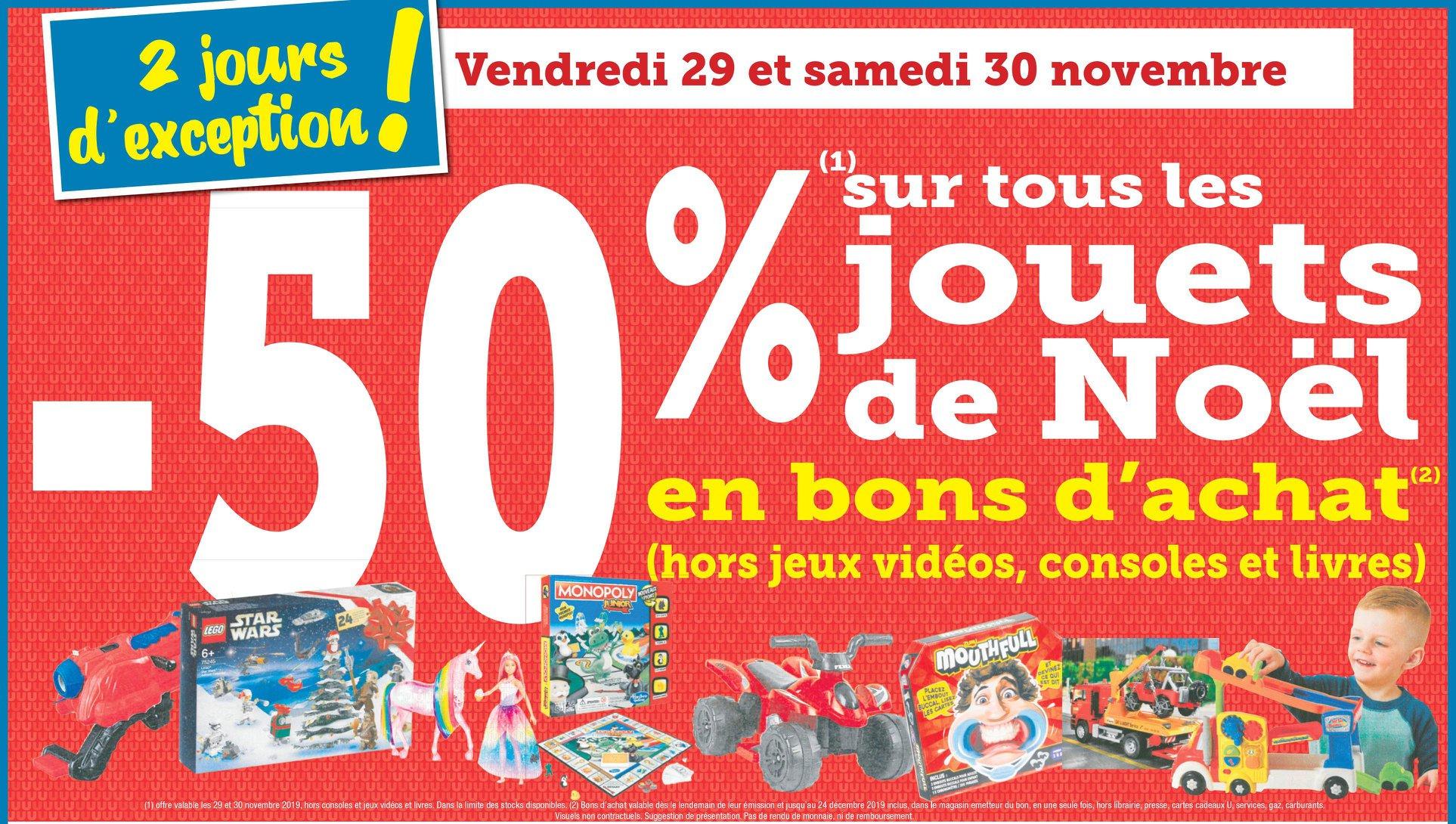 50% remboursés en bon d'achat sur les jouets (Chemillé 49)