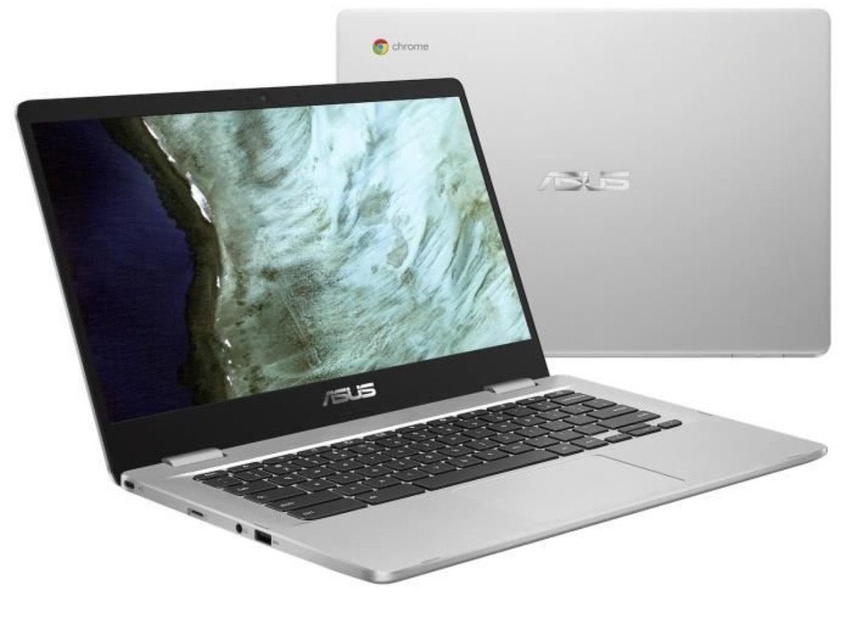 "PC Portable Tactile 14"" Asus Chromebook C423NA-BZ0038 - Pentium N4200, RAM 4 Go, 64 Go, Chrome OS"