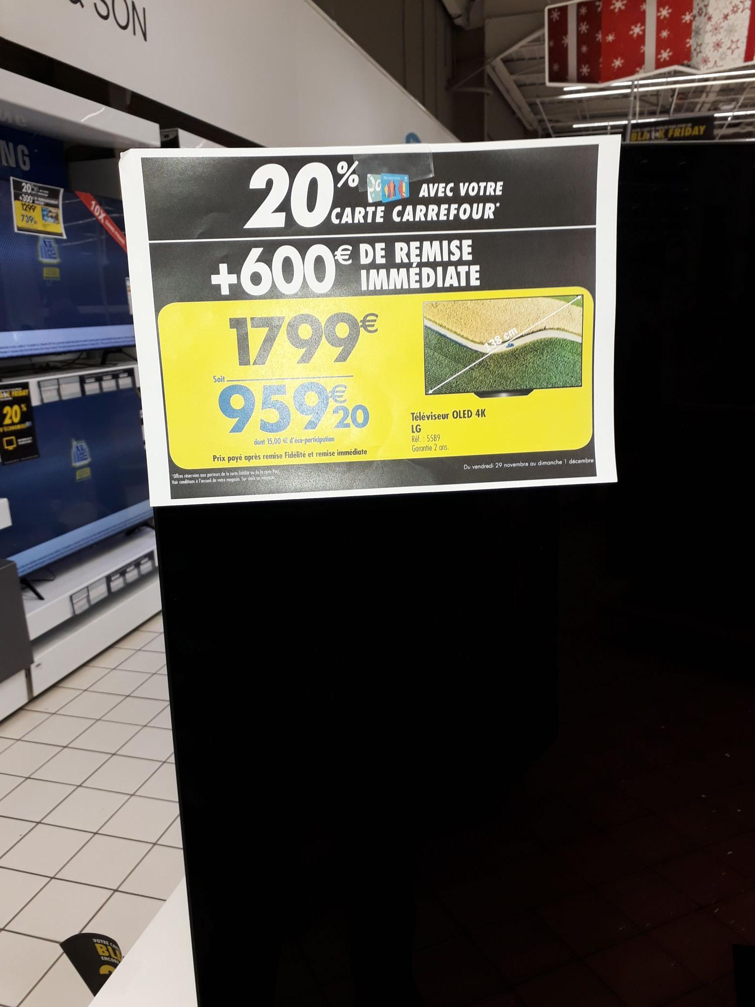 "TV 55"" LG OLED55B9 - 4K UHD, OLED, Smart TV - Vénissieux (69)"