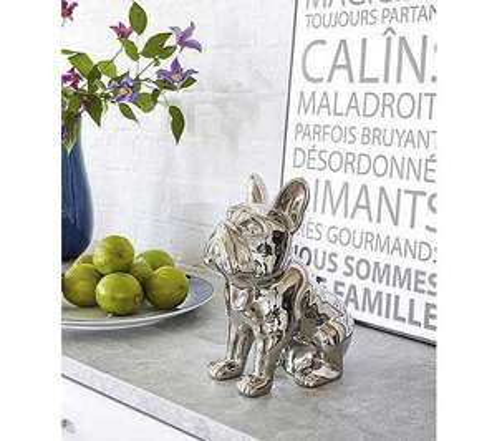 Statue tirelire Doggydog Silver