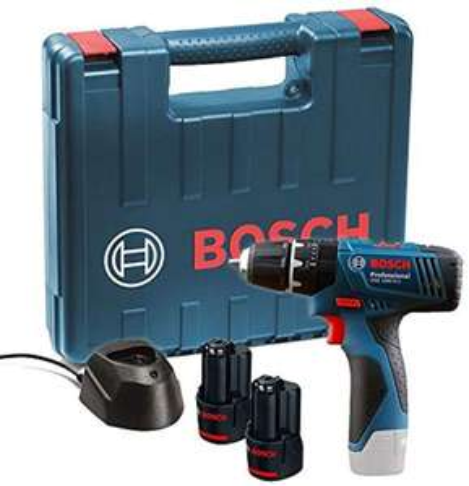 Perceuse-visseuse Bosch GSB 120-LI + 2 batteries 1,5 Ah + chargeur + mallette de transport