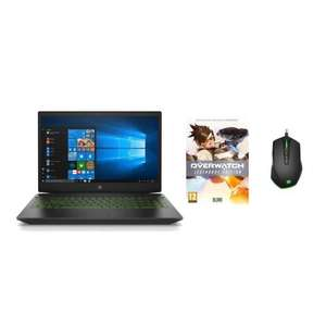 """Pack PC Portable HP Pavilion Gaming 15.6"""" HP 15-cx0046nf (FHD IPS, i5-8300H, RAM 8 Go, SSD 512 Go, GTX 1050Ti, Win10) + Overwatch + Souris"""