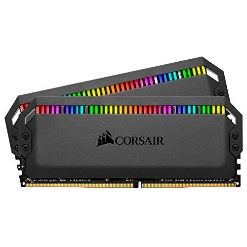 Kit mémoire Ram DDR4 Corsair Dominator Platinum RGB 32 Go (2x16Go) - 3200MHz C16