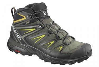Chaussures de randonnée Salomon X Ultra 3 Mid GTX (exemple : Kaki Homme)