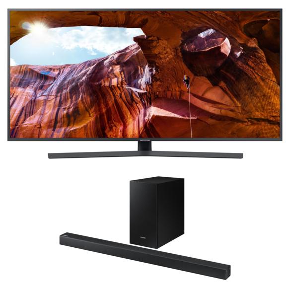 """TV 55"""" Samsung UE55RU7400 + Barre de son 2.1 - HW-R450"""