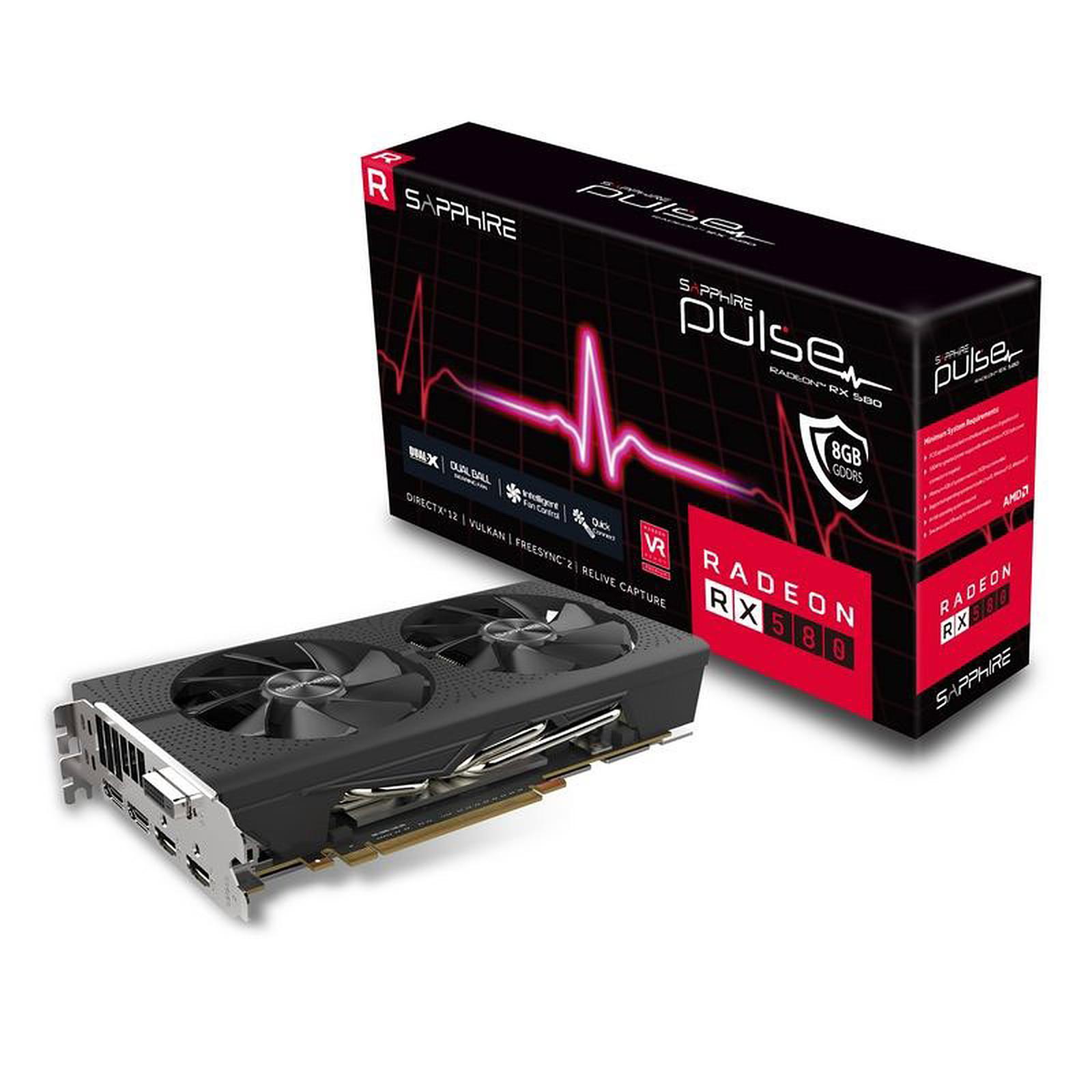 Carte graphique Sapphire PULSE Radeon RX 580 8GD5