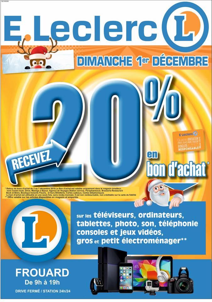 20% en bon d'achat ( ex Switch. 234,32 au lieu de 292,90€ / PS4 239,20 au lieu de 299.00 € ) - Leclerc Frouard (54)