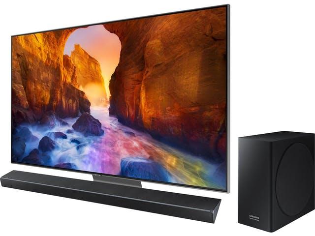 """TV 75"""" Samsung QE75Q90R 4K UHD + Barre de son HW-Q70R/ZF (via ODR de 100€)"""