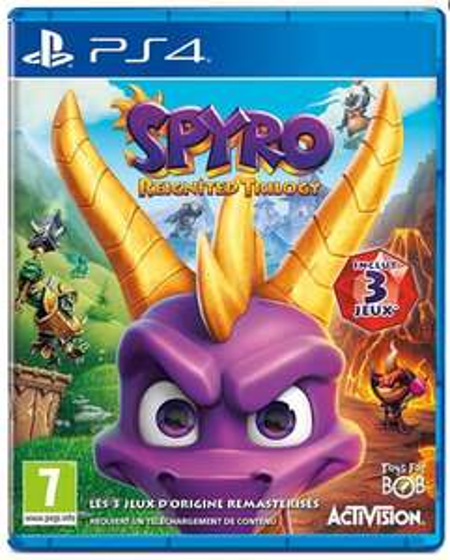 Jeu Spyro reignited trilogy sur PS4 ou XBOX One