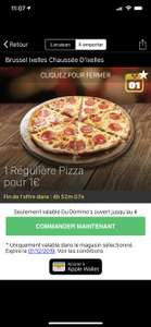 Pizza Regular (Via Application Mobile - Frontaliers Belge)