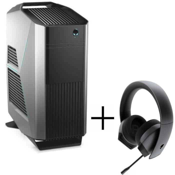 PC Alienware R8 -i5 9600K, RAM 16Go, 1To HDD + 256Go SSD, RTX2070(8Go), Watercooling, W10 + Clavier, Souris & Casque Alienware(Via ODR 200€)