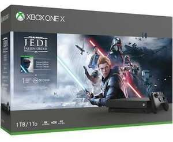 Pack Console Microsoft Xbox One X (1 To) + Star Wars Jedi Fallen Order (290.39€ avec le code BF12100)