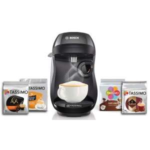 Machine à café Tassimo Bosh TAS1002C2 + lot de 4 packs de 16 dosettes