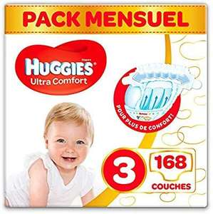 Pack de 168 couches Huggies Ultra Comfort - Taille 3