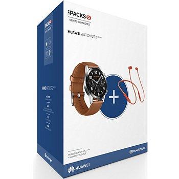 Montre connectée Huawei Watch GT 2 - 46 mm + Écouteurs sans-fil Freelace (Via ODR de 50€)