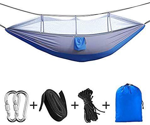 Hamac de Camping portatif Bihuo avec moustiquaire et sangles + accesoires (vendeur tiers)