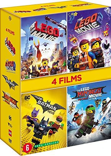 Coffret 4 DVD La Grande Aventure 1 & 2, Ninjago le film, Lego Batman, Le Film