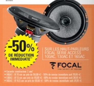 50% de réduction sur la gamme FOCAL Access - Ex: Focal 100AC