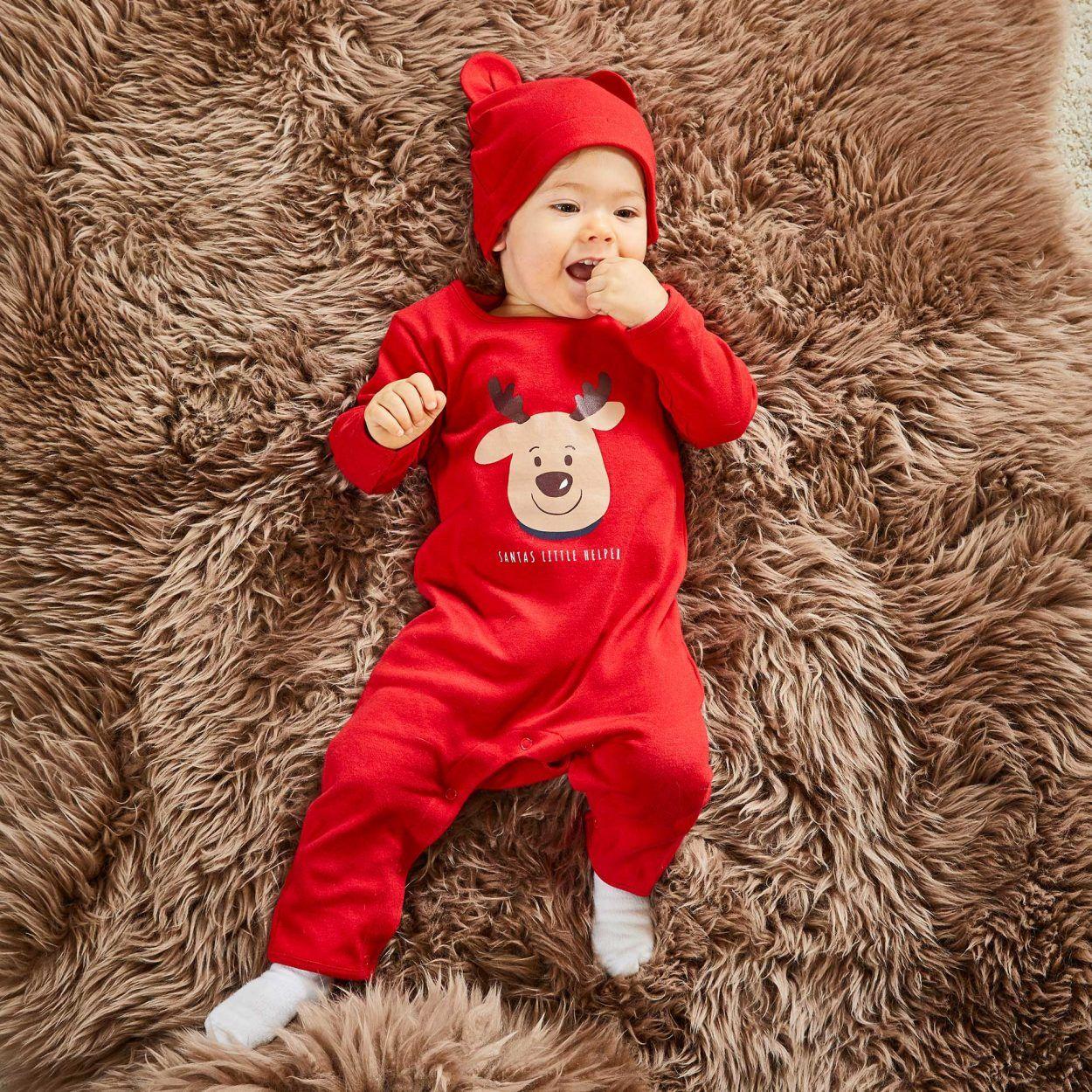 Pyjama et Bonnet de Noël pour Bébés - Coloris & Tailles au choix